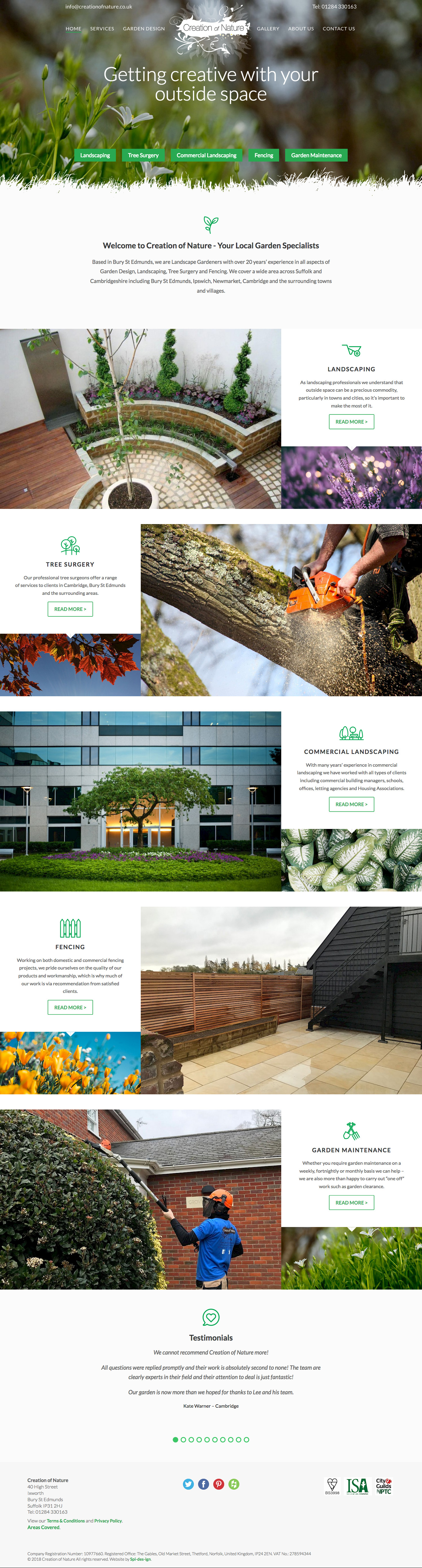 Creation of Nature Home Page